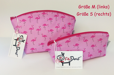 Form Gaby / Flamingos - Innenfutter: pink